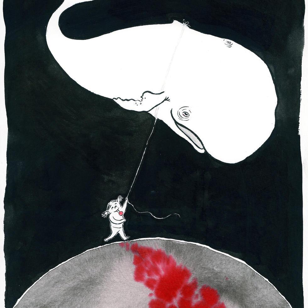 La baleine et la gamine