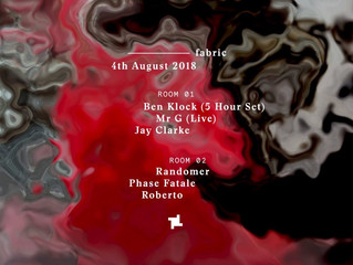 Monthly Line-Up list August 18'