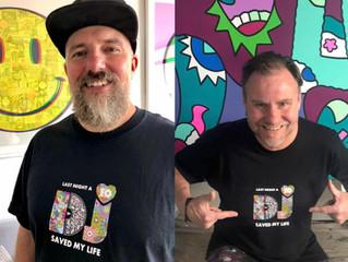 Last Night A DJ Saved My Life Launch 10th Anniversary T-shirt