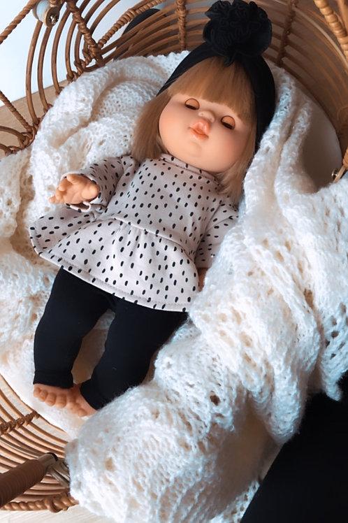Minikane Doll Leggings Noir