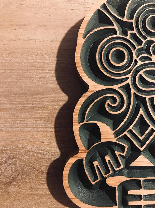 Bamboo Tiki Carving - small 15CM