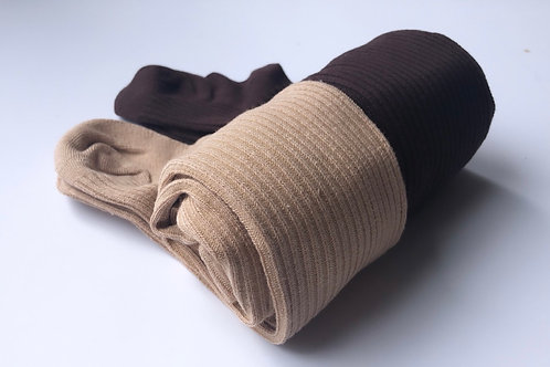 Ribbed Cotton Stockings