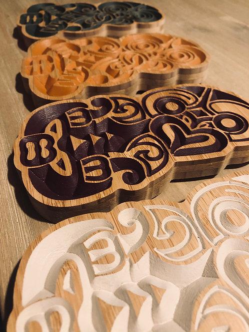 Bamboo Tiki Carving - Large 24CM