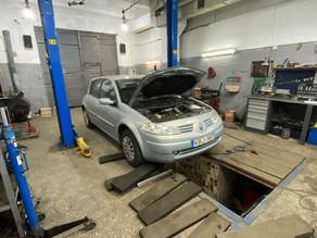 Замена масла в Renault Megan 2