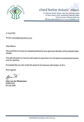 Chere Botha School letter.png