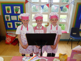 Lucie, Kate and Summer show us how to bake