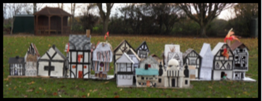 Year 2's 17th Centrury houses prior to the Great Fire...