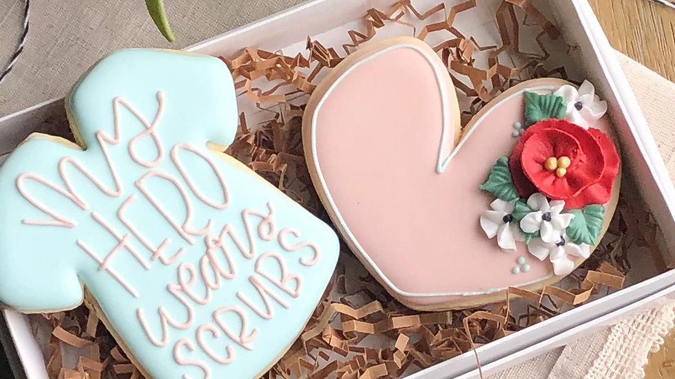 My Hero Wears Scurbs 2 Cookie Gift Set