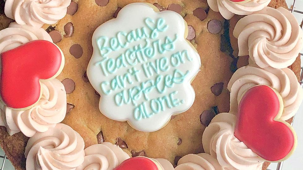 Teacher Cookie Cake