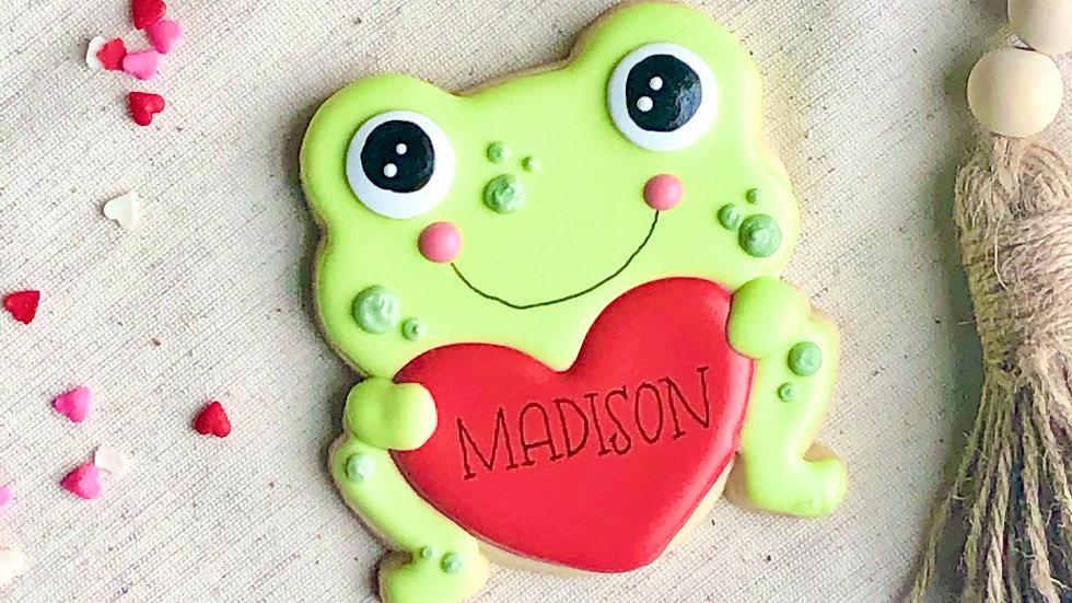 Personalized Valentine Cookie
