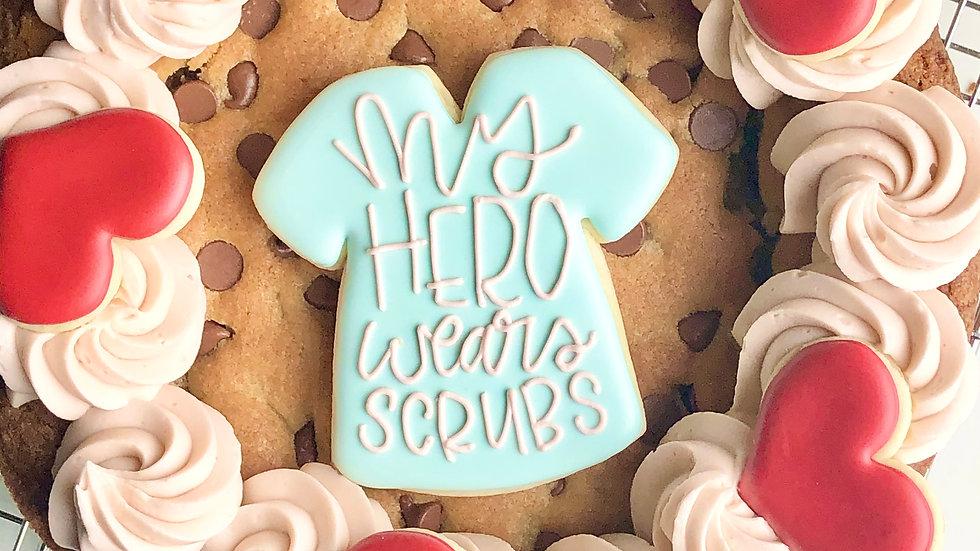 Nurse Cookie Cake