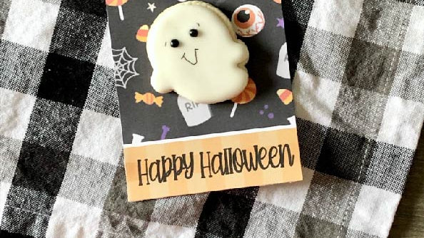 Mini Ghost Cookie-- Pick up 10/16 after 2pm