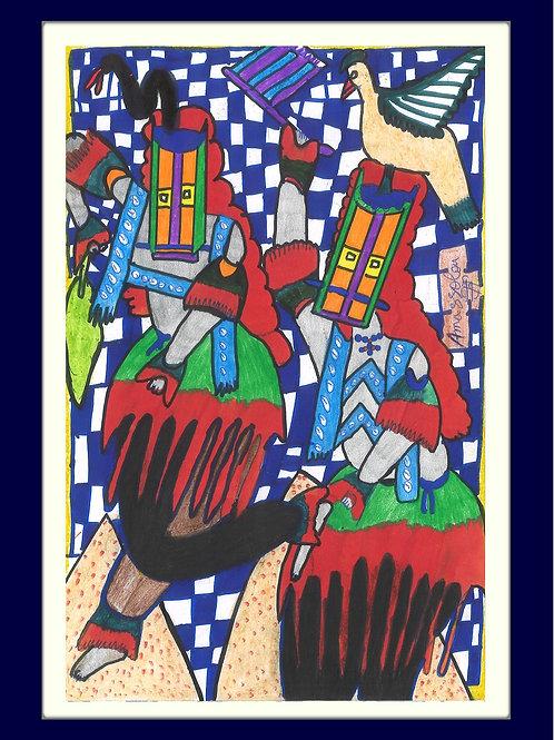 Le serpent et l'oiseau - A. Guindo