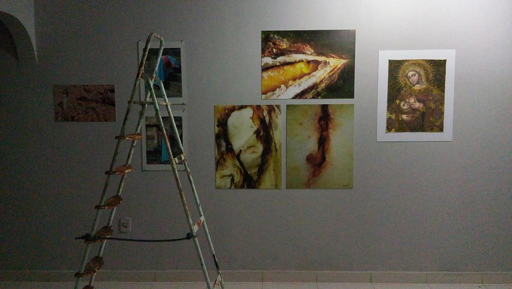 Na imagem as artistas (da esquerda para a direita): Nubia Suriane, Mira Bischoff, Líris Pimentel e Carla Beltrão.