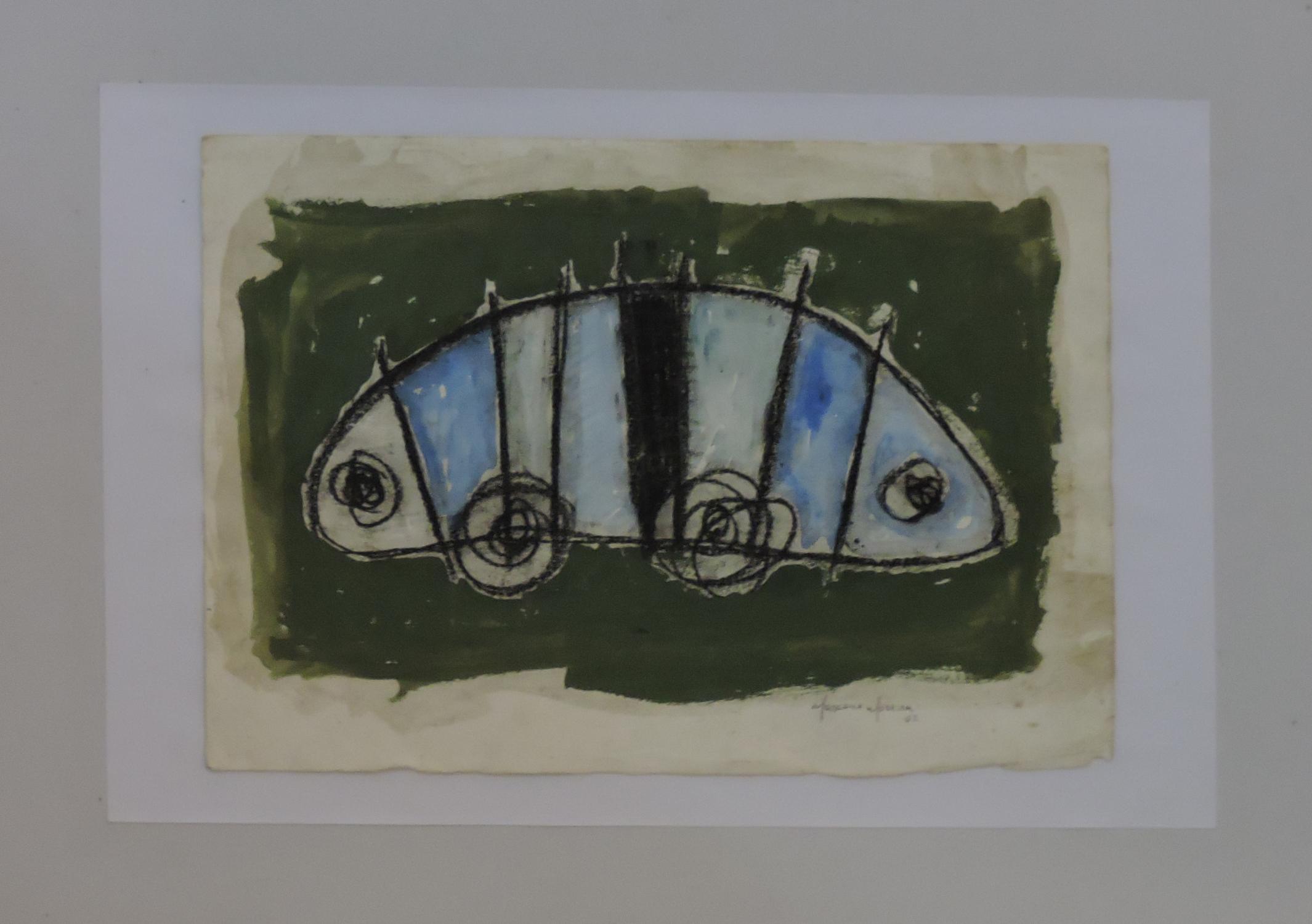Marcone_Moreira_-_Abstração_verde,_2002._Acrílica_s_papel,_24_x_33