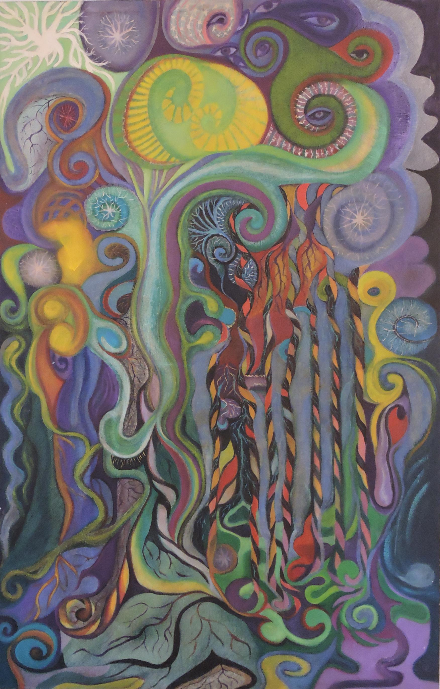 Vitória Barros - Sedução, 2007. Pintura a óleo, 140 x90