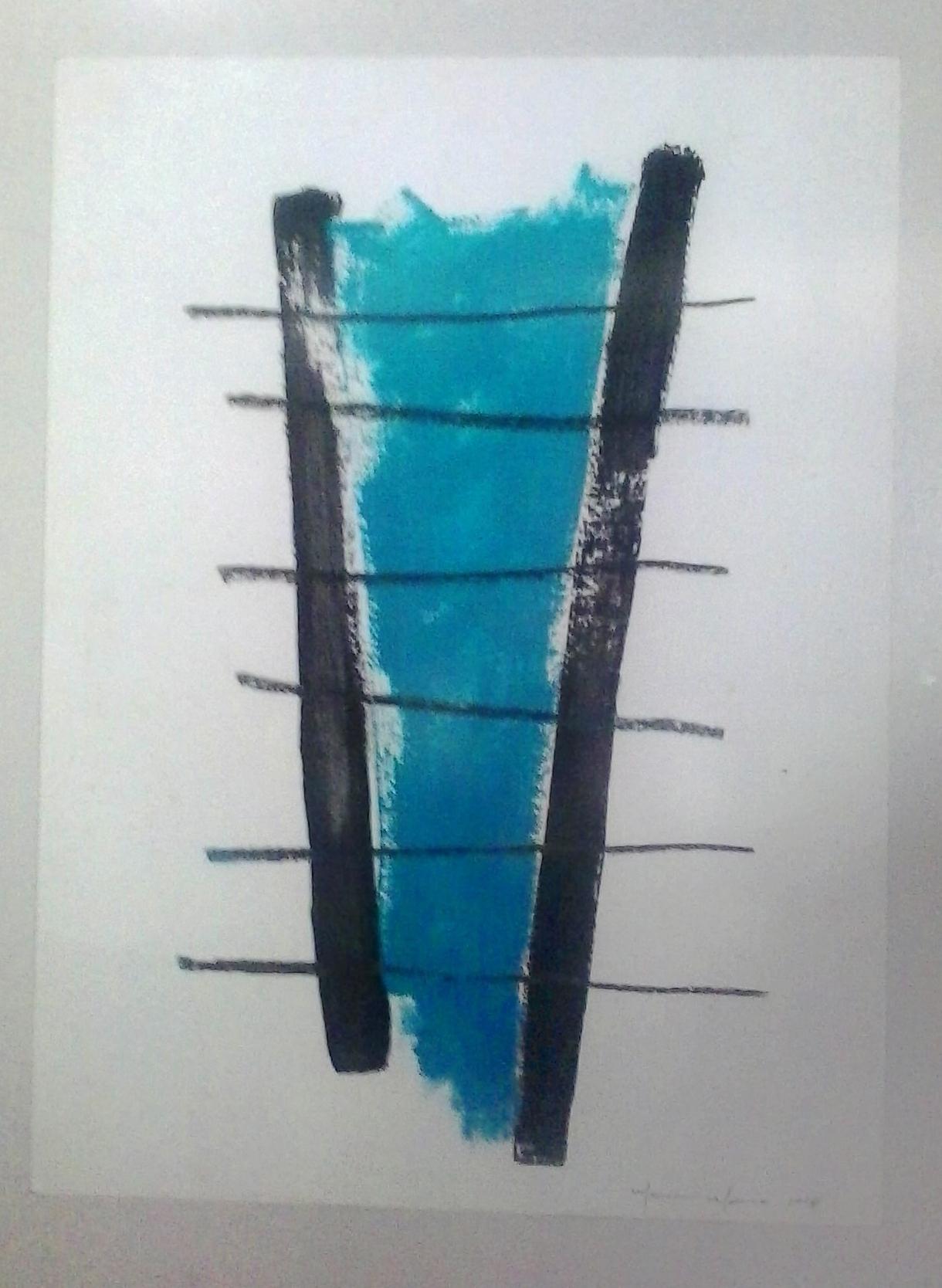 Marcone_Moreira_-_Abstração_azul,_2006._Mista_s_papel,_60_x_47