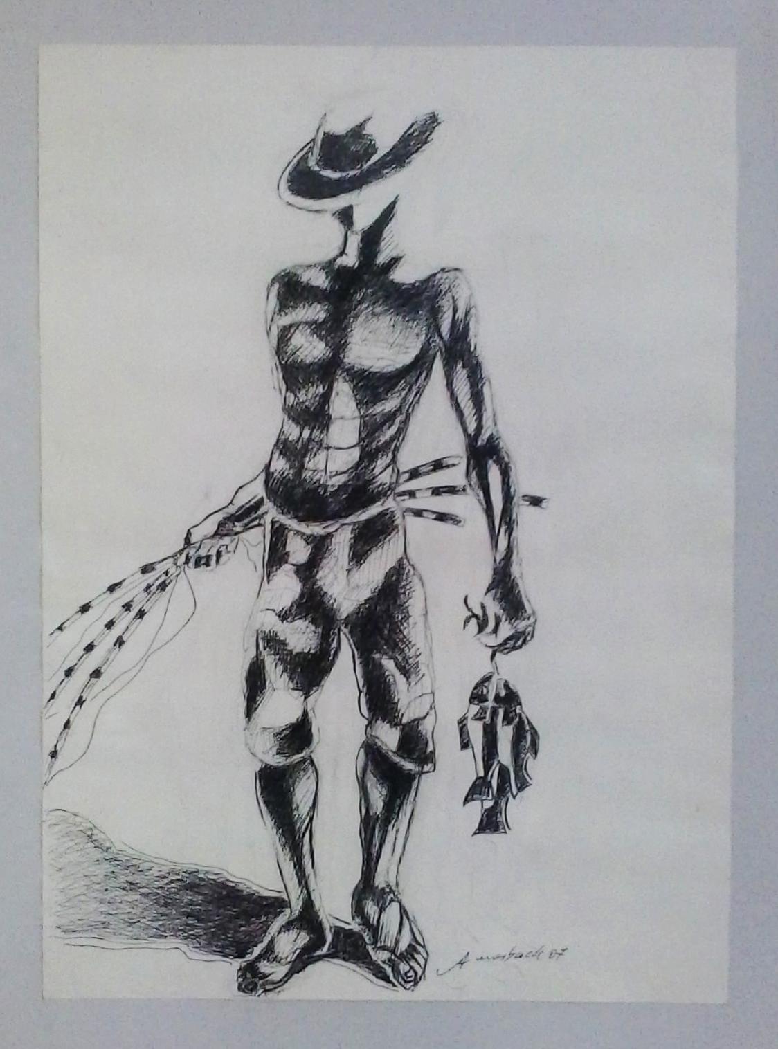 Antônio_Morbach_-_Pescador,_Série_Nanquim,_2007._Desenho,_42.3x29.9