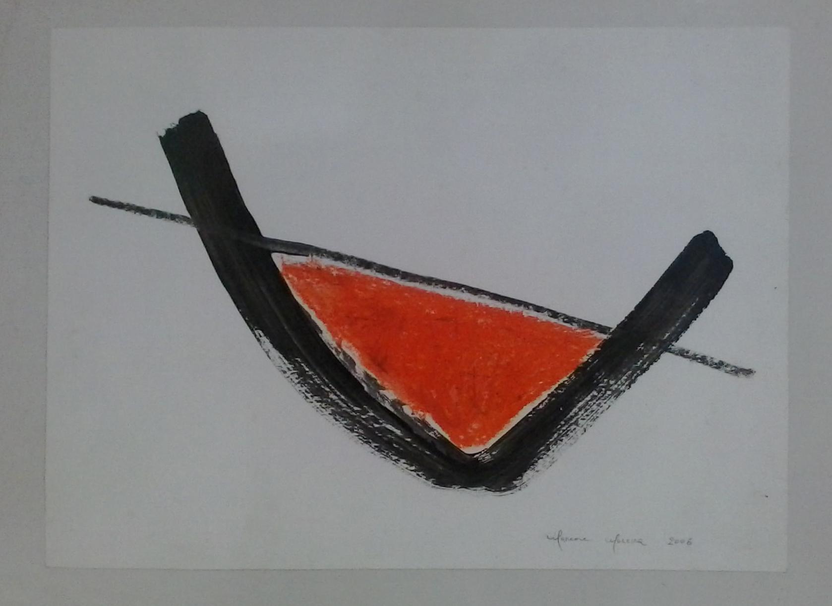 Marcone_Moreira_-_Abstração_vermelha,2006._Mista_s_papel,_47_x_60