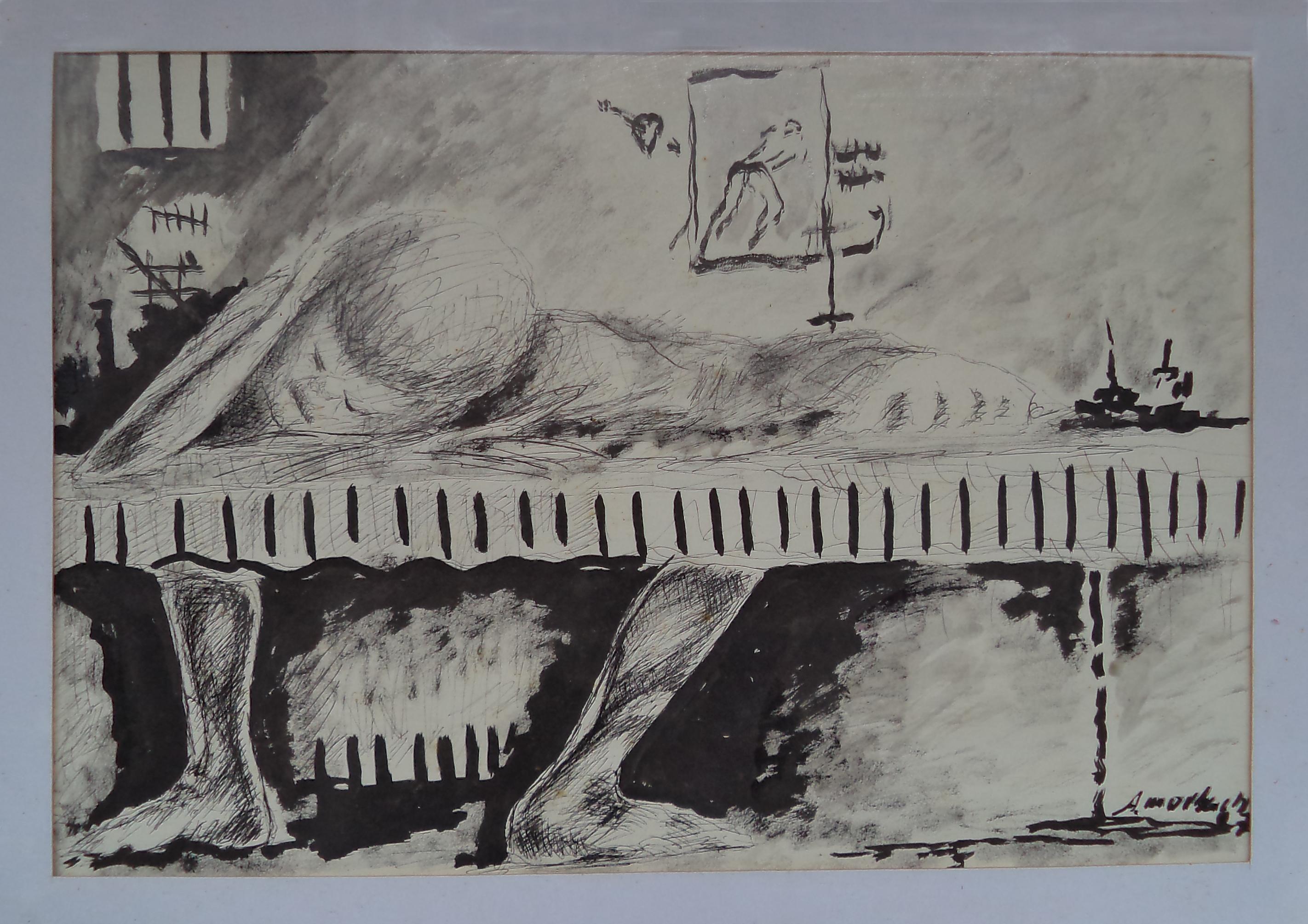 Antônio_Morbach,_Série_Nanquim,_2007._Desenho,_44x56