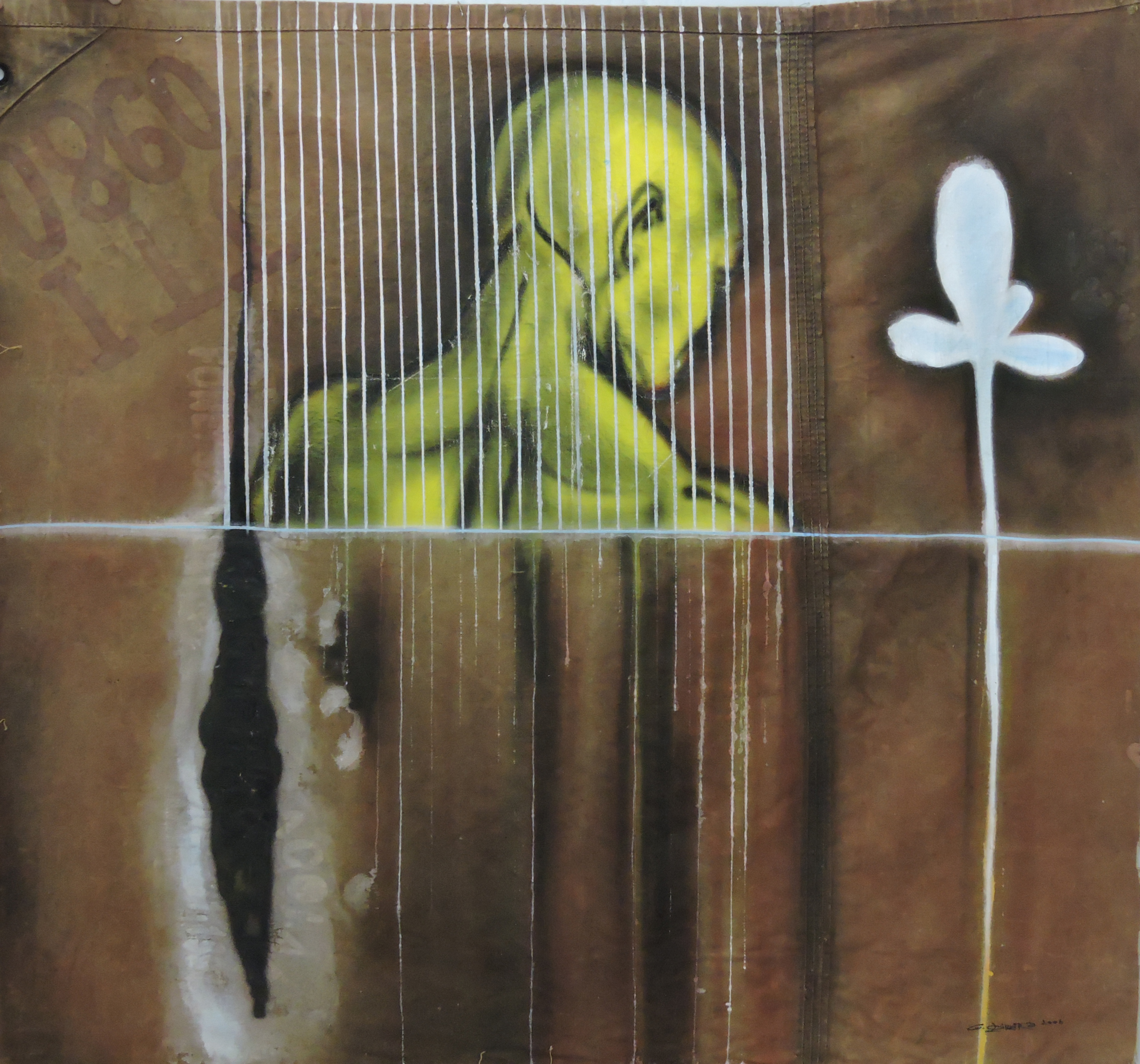 Genison_Oliveira_-_Exposição_Secreto._Figura_humana,_2006._Mista_s_lona,132_x_130