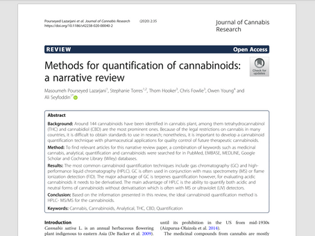 First paper published by AUT and Zeacann's cannabis research team