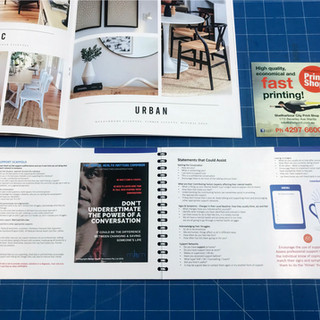 Twin-loop wire bound A5 (landscape orientation) booklet.