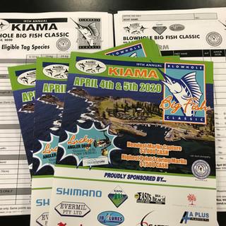 kiama game fishing club brochure and entry forms