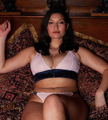 Love Rose | Lights Down Low Non-Pocketed Wire-Free Bra | Lotus Pink & Midnight