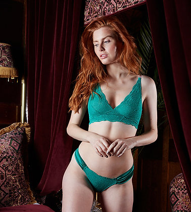 Love Rose | See You at Nine Non-Pocketed Wire-Free Bra | Luxe Green & Lotus Pink