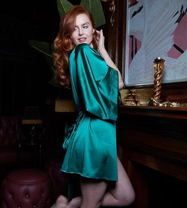 Love Rose | Satin Assassin Robe | Luxe Green