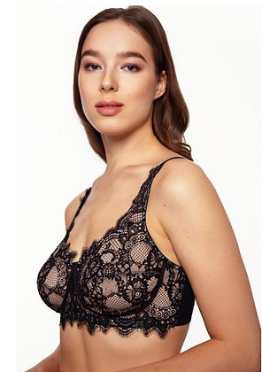 Shop the Megami Allure Soft Cup Bra in Black & Skin with The Bra Sisters
