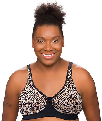 Trulife Barbara Wire Free Mastectomy Bra | Exotic Black