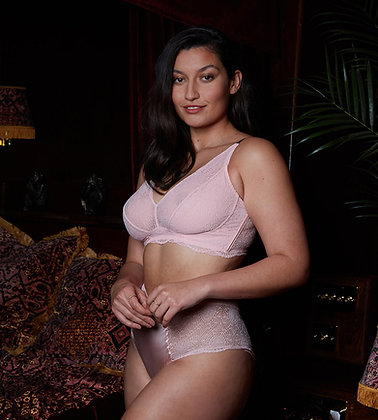 Love Rose | See You at Nine Non-Pocketed Wire-Free Bra | Lotus Pink & Midnight