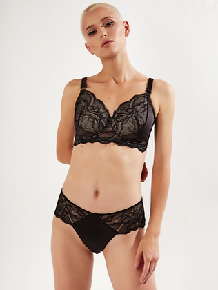 Shop the Megami Victress Floral in Black & Skin with The Bra Sisters