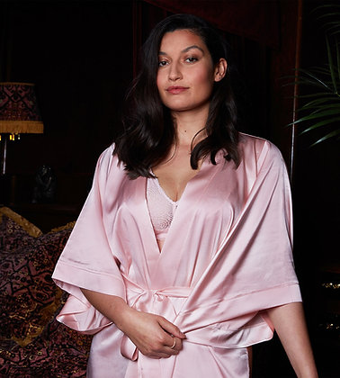 Love Rose | Satin Assassin Robe | Lotus Pink