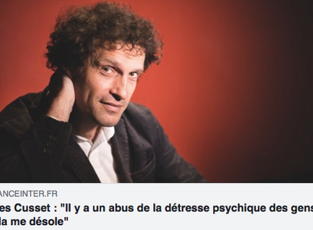 """Yves Cusset """"Il y a un abus de la détresse psychique des gens, cela me désole"""""""