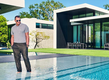 Baseball Star Alex Rodriguez' Pool Was Featured On The Cover Of Architectural Digest & Forbes Life