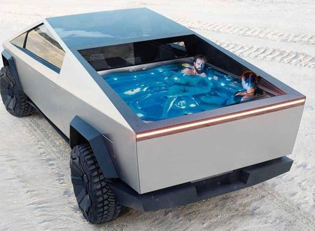 The Tesla Cybertruck Gets A Swimming Pool Makeover