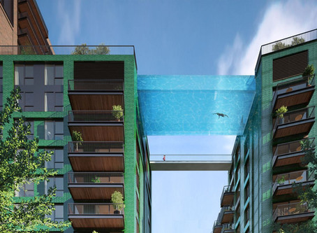 The Worlds First Transparent Pool That Spans Between Two Buildings