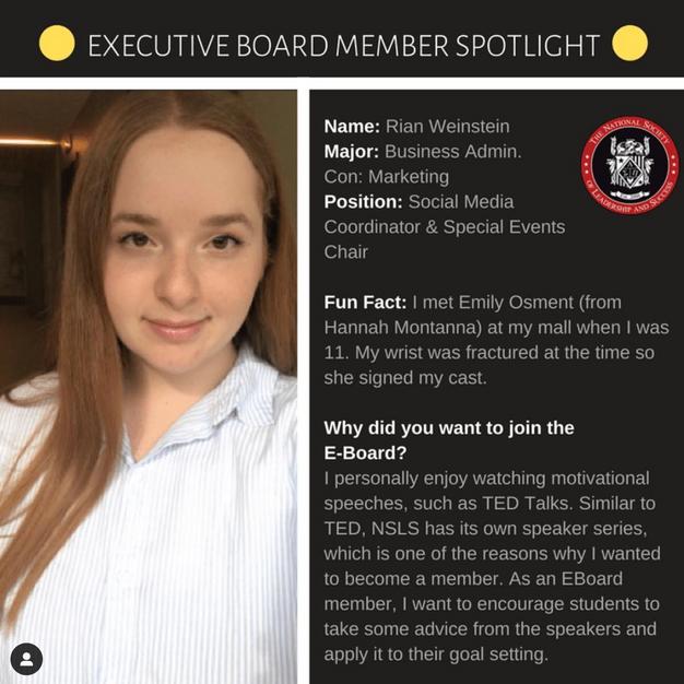 Executive Board Post (Me)