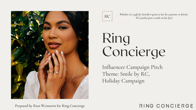 Ring Concierge Influencer Campaign Pitch