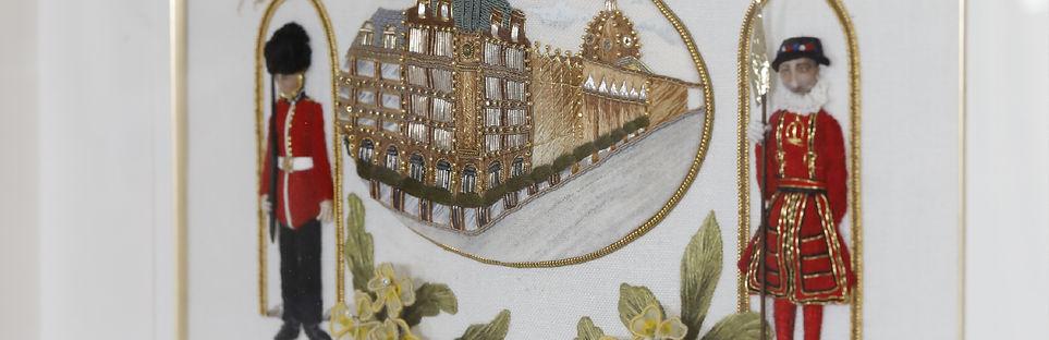 スタンプワーク,立体刺繍