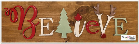 Believe Christmas with Wood Cutouts