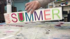 Hello Summer / Happy 4th of July Flip Sign
