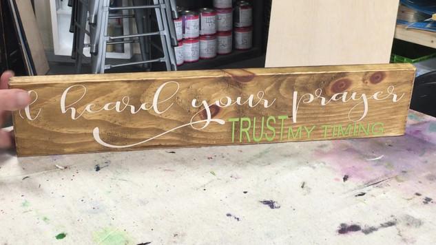 With God/Trust Me Flip Sign