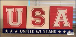 USA United We Stand Blocks