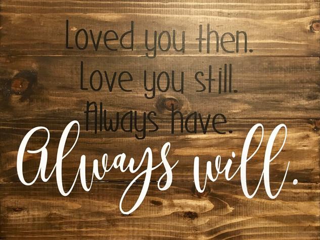 Always Will
