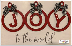 Joy to the World Bows with Wood Cutouts