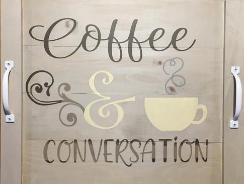 Tray - Coffee & Conversation